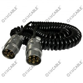 Aluminum plugs Trailer Cable,12V SAE J560,Coiled Trailer Wire